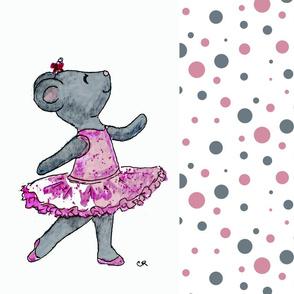 Ballerina Mouse FQ or Rectangular Pillow