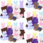 Yorkie - Easter Bunny with Peeps