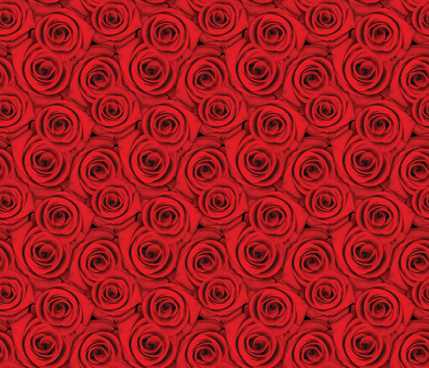 Roses are Red fabric by j9design on Spoonflower - custom fabric