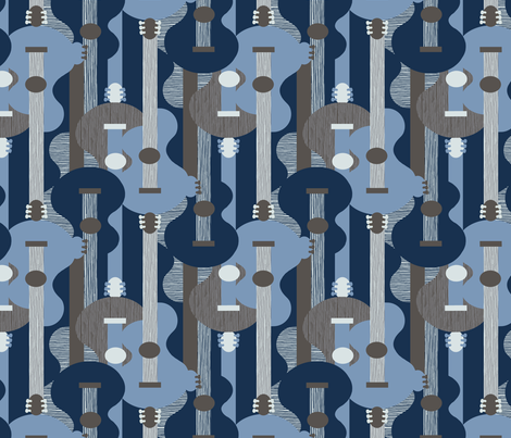 Blues guitar fabric by j9design on Spoonflower - custom fabric