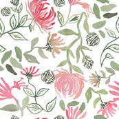 Honeysuckle Flowers in Pink