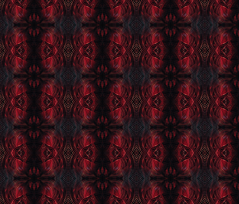 City Museum ruby fabric by rhymeswithfinesse on Spoonflower - custom fabric