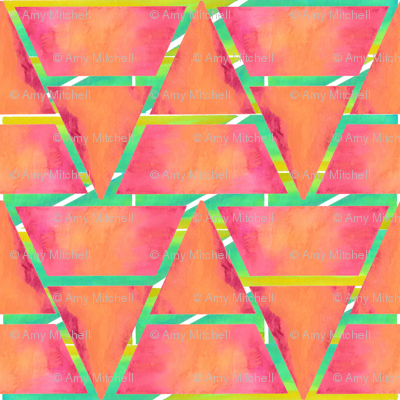 #SFDesignaDay2 - watercolour triangles