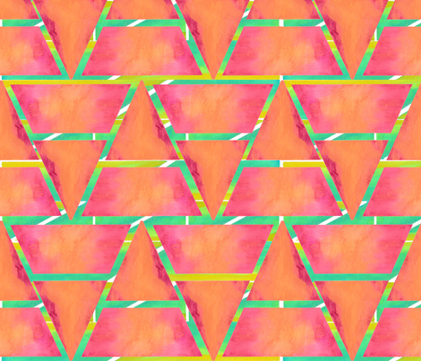 #SFDesignaDay2 - watercolour triangles fabric by amyjeanne_wpg on Spoonflower - custom fabric