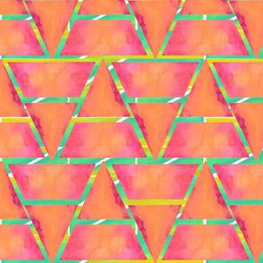 #SFDesignaDay2 - watercolour triangles