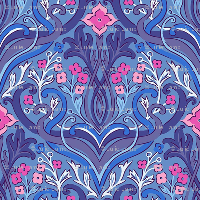 julie_lamb_art_nouveau_blue