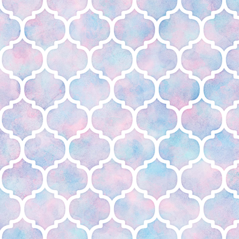 Watercolor Moroccan Pattern fabric by raccoongirl on Spoonflower - custom fabric
