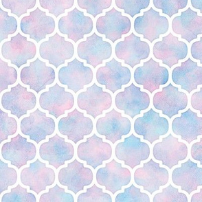 Moroccan Pattern in Cotton Candy Watercolor