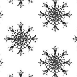 Ring Around the Tulips in Black and White - Small Scale