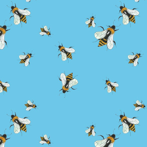 Bumblebees scatter print