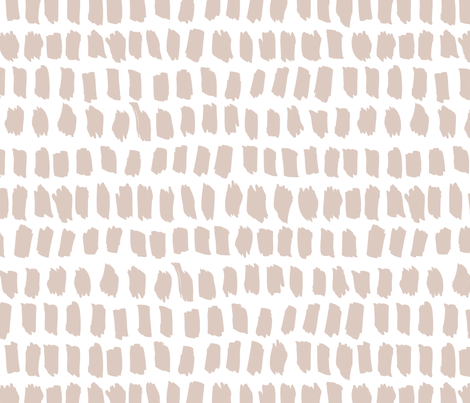 Strokes and stripes abstract scandinavian style brush design gender neutral beige fabric by littlesmilemakers on Spoonflower - custom fabric