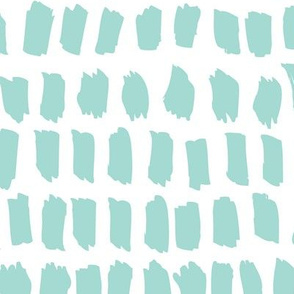 Strokes and stripes abstract scandinavian style brush design gender neutral mint