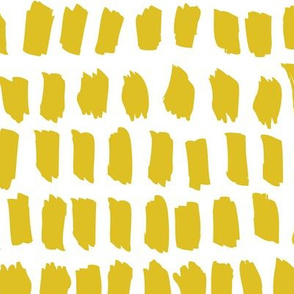 Strokes and stripes abstract scandinavian style brush design gender neutral yellow mustard XL