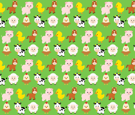 Farm Animals fabric by sunshineandspoons on Spoonflower - custom fabric
