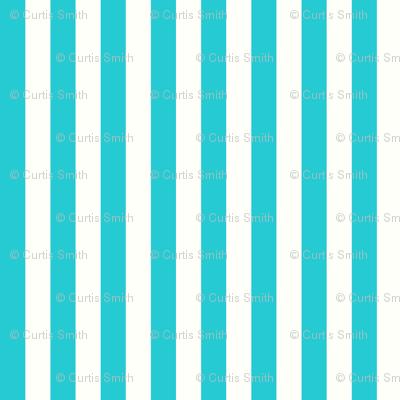 Pinstripes Teal: Quarter Inch