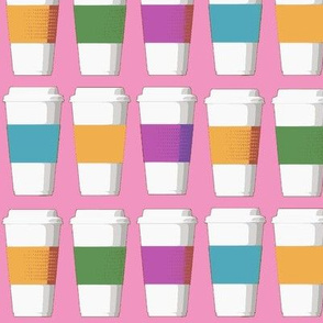 Coffee Cups on Pink