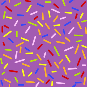 Ice Cream Sprinkles Purple