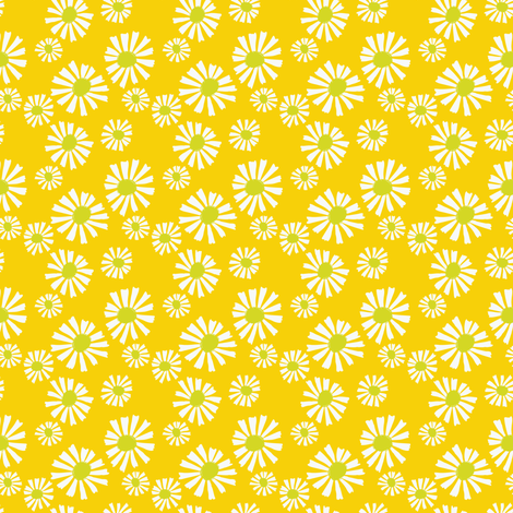 Daisy Days Yellow fabric by shindigdesignstudio on Spoonflower - custom fabric
