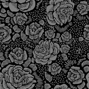 Rose remix small - black/grey