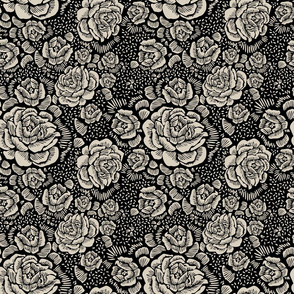 Rose remix - black/raffia