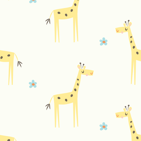 giraffe stampede fabric by shindigdesignstudio on Spoonflower - custom fabric