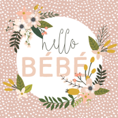 Blush Sprigs and Blooms Bébé Blanket // Scalloping Dots