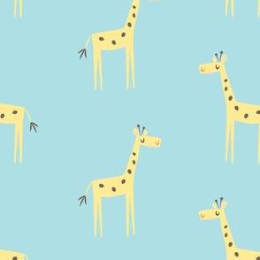 giraffe stampede blue