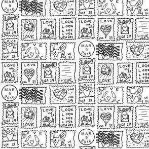 Danita's Postage Stamps ~ No Color