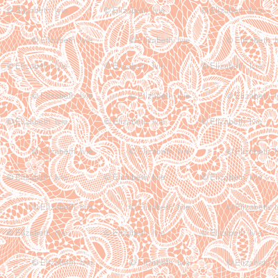 Blush Sprigs and Blooms Coordinate Lace 4