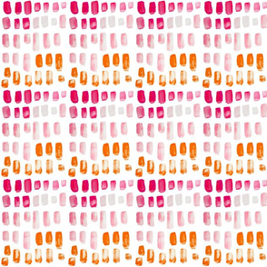 Pink + Orange Watercolor Mosaic // Small