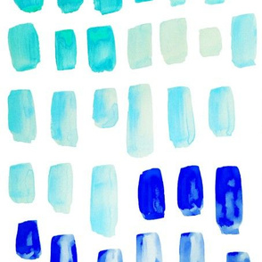 Aqua + Blue Watercolor Mosaic