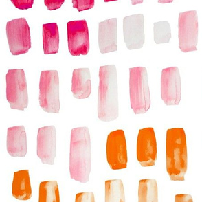 Pink + Orange Watercolor Mosaic
