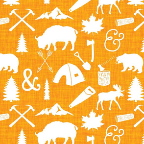 The Woodcutter // Orange Linen