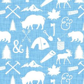 The Woodcutter // Blue Linen