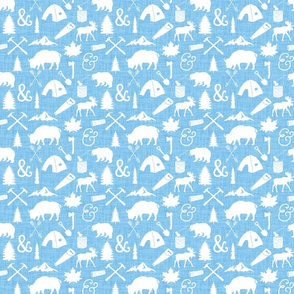 The Woodcutter // Blue Linen // Small