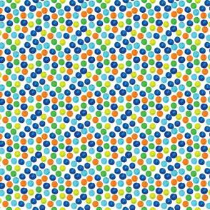 Multi Blue Watercolor Dots // Small