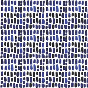 Indigo Watercolor Mosaic // Small