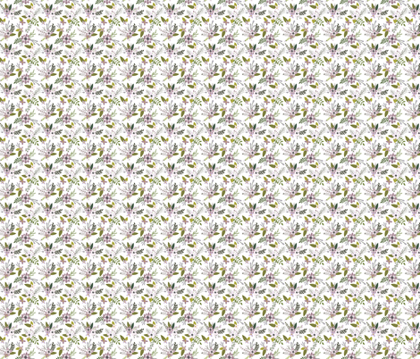 Lavender Sprigs and Blooms Small fabric by ivieclothco on Spoonflower - custom fabric