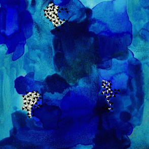 Indigo Watercolor Abstract