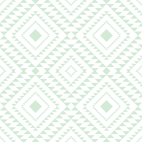 Diamond Aztecin mint fabric by graceandcruzdesigns on Spoonflower - custom fabric