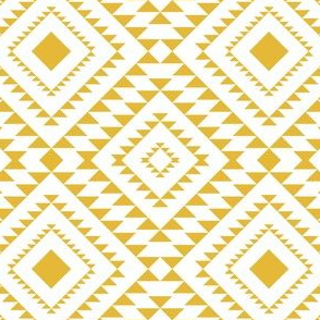 diamod Aztec in Mustard