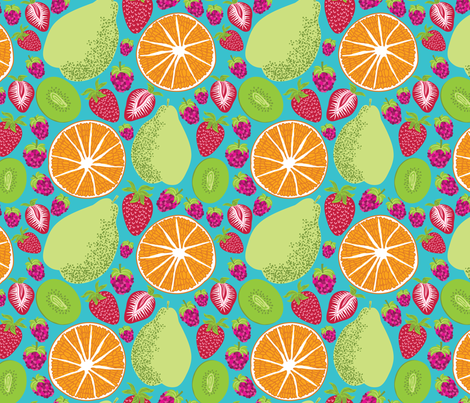 Picnic Fruit Salad fabric by laine_and_leo on Spoonflower - custom fabric