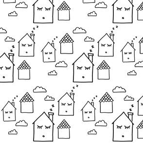 Dozing Homes White