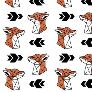 Geometric Fox Profile on White