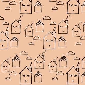 Dozing Homes Pink