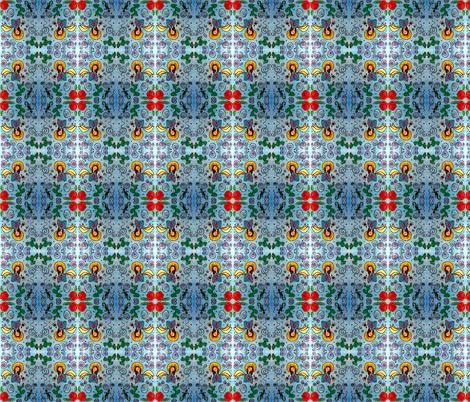 Blue Juanita fabric by sewingpatternbee on Spoonflower - custom fabric
