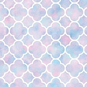 Watercolor Quatrefoil Pattern