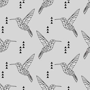 Geometric hummingbird // fog