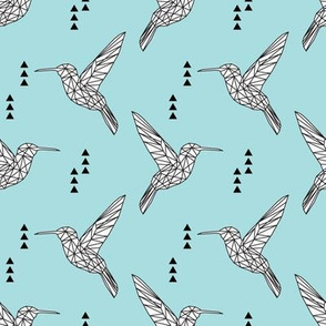 Geometric hummingbird // lake
