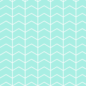 Chevron (misty teal) // Glacier woods